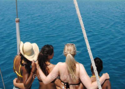 Girls sailing trip, Lefkas Island