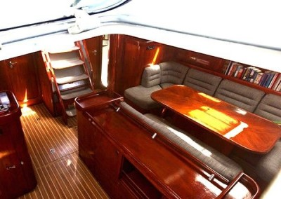Oceanis 510 saloon from hatch