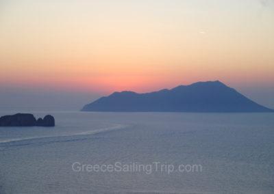 Sunset, Milos island