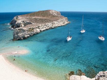 Greece Sailing Trip Kythnos island Kolona the double beach