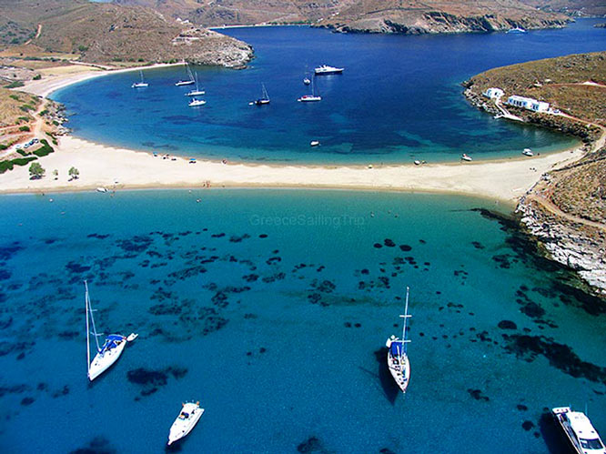 cyclades islands  west route
