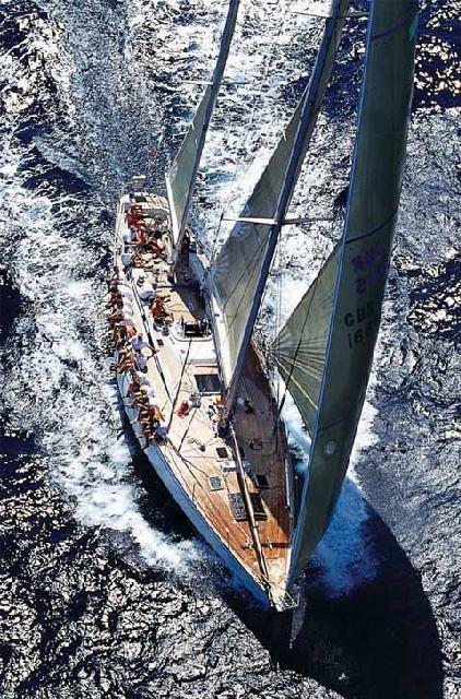 Swan 65 under sail