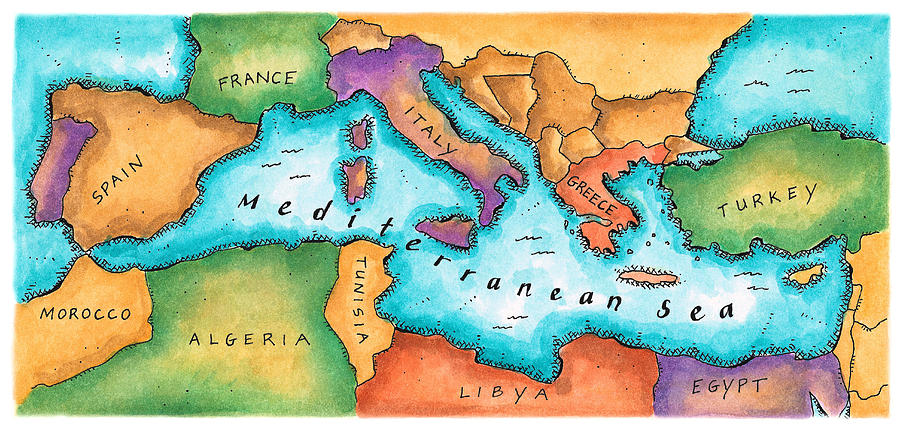 A safe and closed basin, the Mediterranean Sea is more of a big lake..