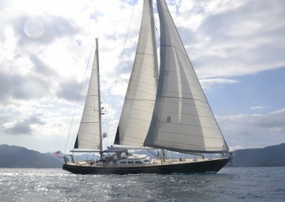 Ketch 75 full sail