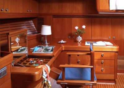 Swan 80 Master Cabin table