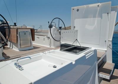 Dufour 560 BBQ and External Shower