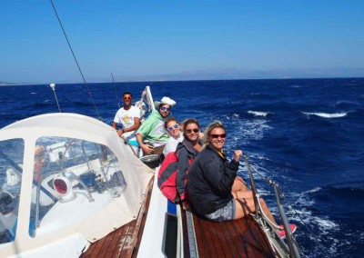 Grand Soleil 46 under sail with crew
