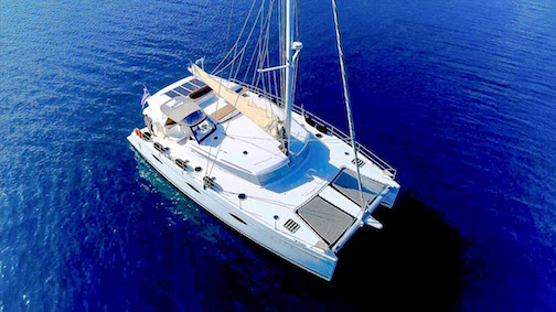Fountaine-Pajot 57 anchored