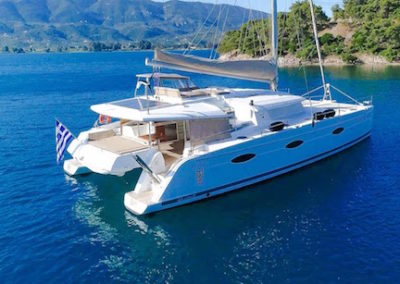 Fountaine-Pajot 57 at anchor