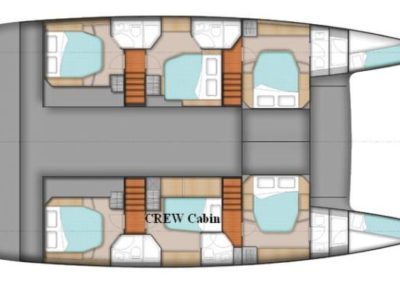 Fountaine-Pajot 57 layout
